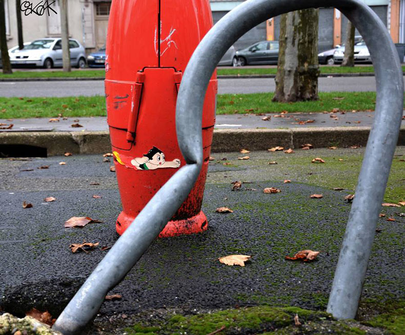 arte urbano con Astroboy